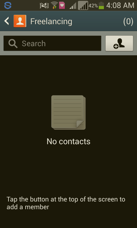 Add Contacts to Group Android