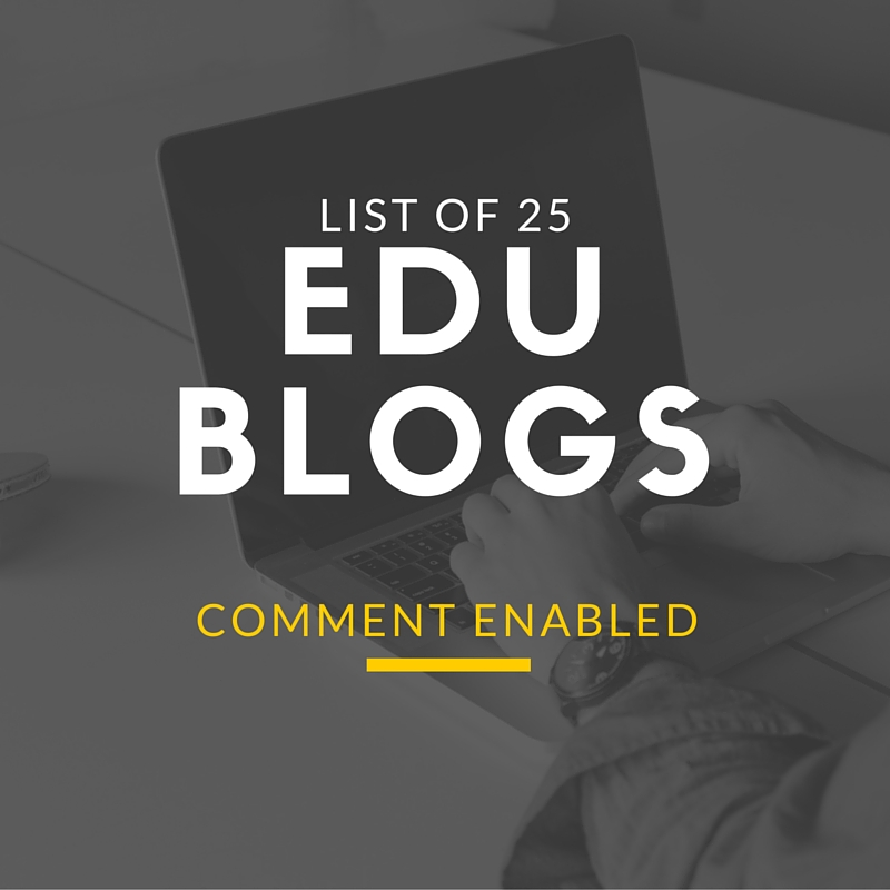 How to get .edu Backlinks List of 25 Comment Enabled edu Blogs