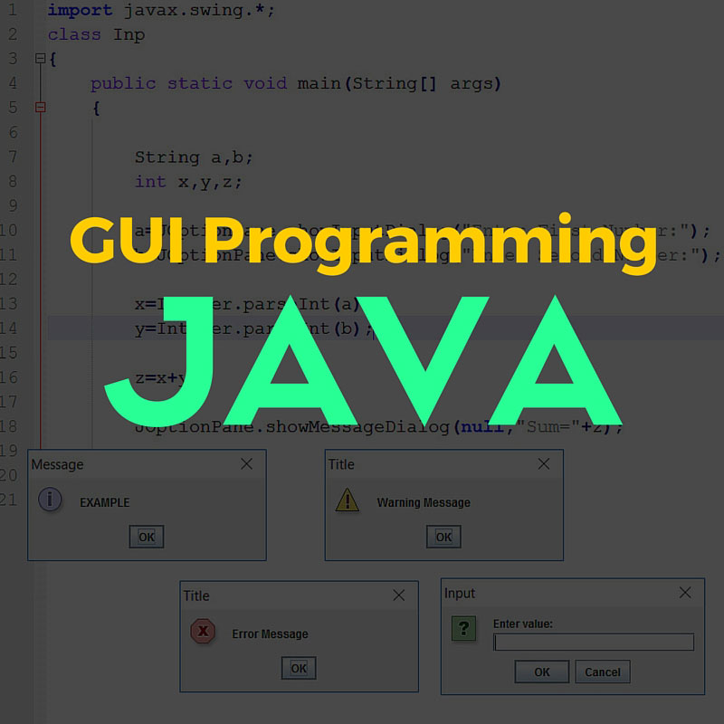 GUI-Programming java